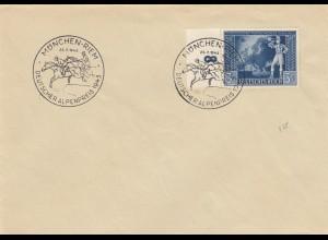 Blanko Sonderstempelbeleg 1943: München-Riem: Deutscher Alpenpreis