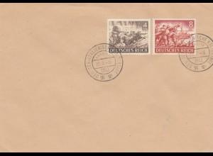 Blanko Sonderstempelbeleg 1943: Hamburg: Deutsch-Italienische Kulturtage