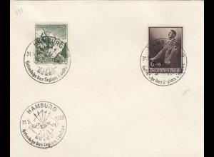 Blanko Sonderstempelbeleg 1939: Hamburg: Heimkehr der Legion Condor