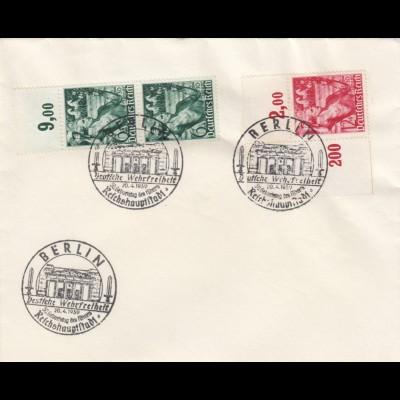 Blanko Sonderstempelbeleg 1939: Berlin: 50. Geburtstag d. Führers, Wehrfreiheit