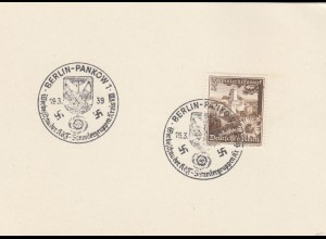 Blanko Sonderstempelbeleg 1939: Berlin: Werbeschau d. kdF Sammlergruppenkreis