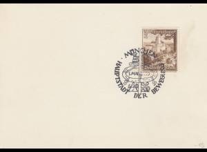 Blanko Sonderstempelbeleg 1939: München: 1. Mai, Hauptstadt d. Bewegung