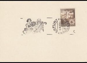 Blanko Sonderstempelbeleg 1939: Erfurt: Briefmarken-Ausstellung, Die Blumenstadt