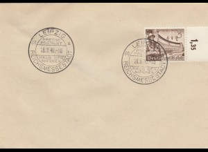 Blanko Sonderstempelbeleg 1940: Leipzig: Haus der Nationen, Presse-Postamt