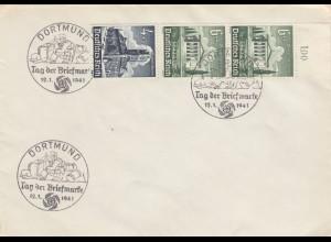Blanko Sonderstempelbeleg 1941: Dortmund: Tag der Briefmarke 12.1.1941