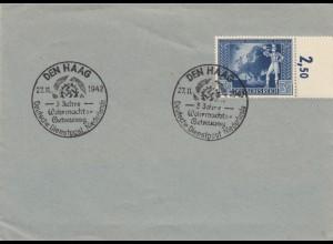 Blanko Sonderstempelbeleg 1942: Den Haag: 3 J. Wehrmachts-Betreuung, Dienstpost