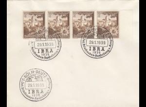 Blanko Sonderstempelbeleg 1939: Köln: 2. Int. Brieftaubenausstellung u. Kongreß