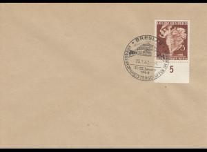 Blanko Sonderstempelbeleg 1942: Breslau: Kriegseuropameisterschaften im Boxen