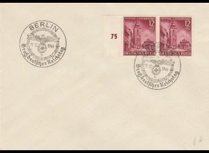 Blanko Sonderstempelbeleg 1941: Berlin: Großdeutscher Reichstag 11.12.1941