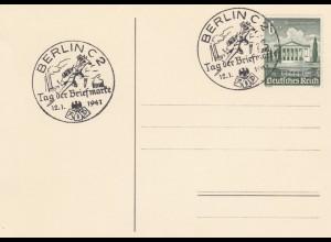 Blanko Sonderstempelbeleg 1941: Berlin C 2: Tag der Briefmarke 12.1.1941