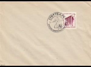 Blanko Sonderstempelbeleg 1939: Stuttgart: Reichs-Gartenschau, Stadt Auslandsdt.