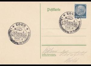 Blanko Sonderstempelbeleg 1939: Eger: 1. Zeppelinlandung im Sudetenland