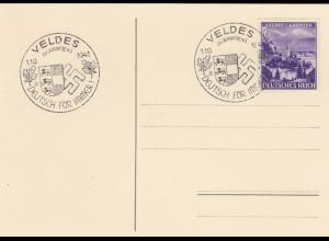 Blanko Sonderstempelbeleg 1941: Veldes (Kärtnen): Deutsch für immer 1.10.1941