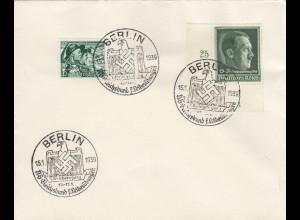 Blanko Sonderstempelbeleg 1939: Berlin: NS Reichsbund für Leibesübungen