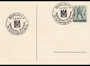 Blanko Sonderstempelbeleg 1940: Berlin: 1. Postwertzeichen-Ausstellung DRK