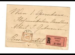 1893: R-Brief Cettigné nach Wien