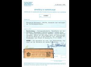 Korrespondez-Doppelkarte, Drucksatzfehler, Gefälligkeitsstempel Centinié P13b