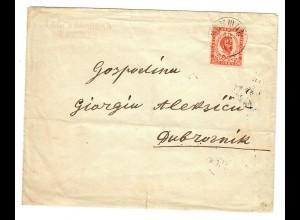 1897: Brief von Niksic nach Dubrovnik
