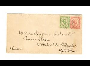 1896: Brief von Cetinje nach Genf, Einkreisstempel