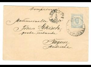 1902: Ansichtskarte Cetinnje als Drucksache nach Dubrovnik, portogerecht, Befund
