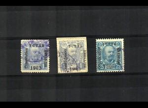 1905: MiNr. 41 I, Aufdruck Schwarz, gestempelt, VÖB Prüfung, Type II