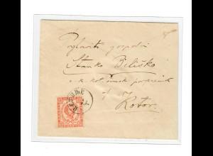 1890: Brief von Cetinje nach Kotor