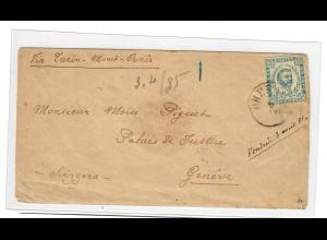 1885: Brief von Rieka nach Genf, portogerecht, Befund