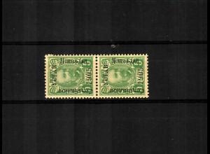 1906: MiNr. 53 II, Aufdruck in schwarz, senkr. Paar, ungebraucht, Befund