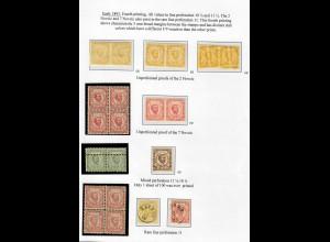 1893: 4. Druckauflage, ungezähnte Probedrucke, tls. Doppeldruck, Befunde