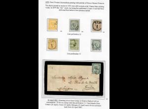 1879 Übergangsausgabe zwischen I und II gestempelt mit Trauerbrief, VÖB Prüfung