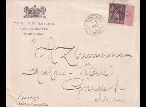 Constantinople 1896 Machau-Weberei, Gnadenfrei/Schlesien, Kreis Neurode