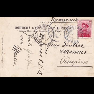 Serbia to Romania: 1913 Turnun / Campina