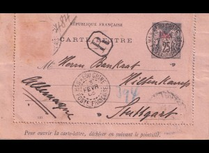 French post in China: Han Keou Chine (Wuhan) to Stuttgart 1905