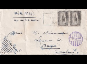 NL-India: Field post 1946 Biak (location of war against Japan) to Basel