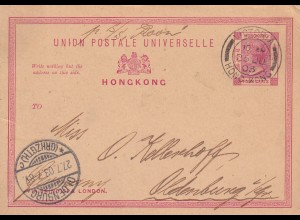 post card Victoria Hong Kong 1903 to Oldenburg (GRHZGTH) /Germany