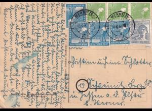1948 Postkarte Wernitzgrün