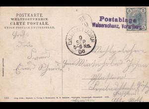 Ansichtskarte Walserschanz, Postablage Vorarlberg 1906