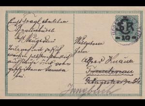 1919 Ganzsache nach Jungbuch