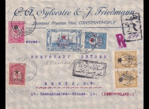registered 1917 Istanbul, Constantinople to Berlin, censor
