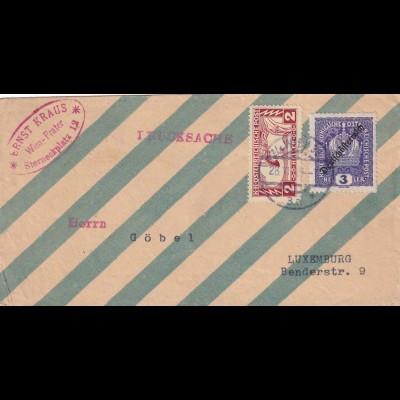 ca. 1919: Drucksache Wien-Prater nach Luxemburg