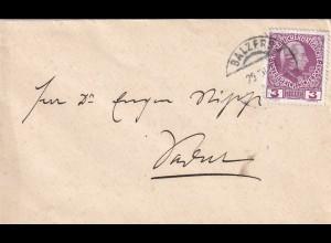 Brief aus Balzers nach Vaduz, Vorläufer, ca. 1911