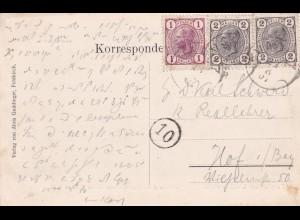 Ansichtskarte Saminatal 1907, MiNr. 120, 105, Vorläufer