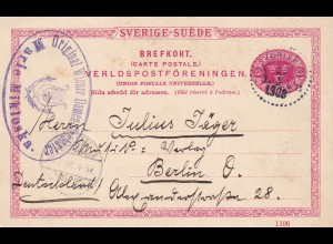 postcard sender Damenorchester (ladies orchstra) to Berlin, 1908
