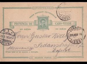 Kap Verde, post card to Erfurt