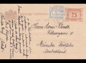 post card Batoe 1913 to Münster/Germany