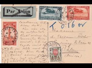 post card Marokko to Basel/Switzerland 1931