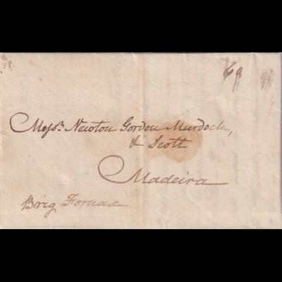 New York 1926 to Madeira, kompletter Brief, Rächerschlitz, Kapitänsbrief