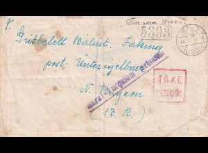 Ungarn: Majs high Inflation 1946 to Bayern, Taxe