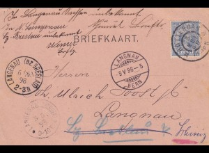 Rotterdam post card adressed to Schlesia, forwarded to Switzerland Langenau
