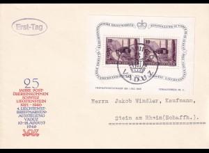 FDC 1946 Vaduz nach Stein am Rhein